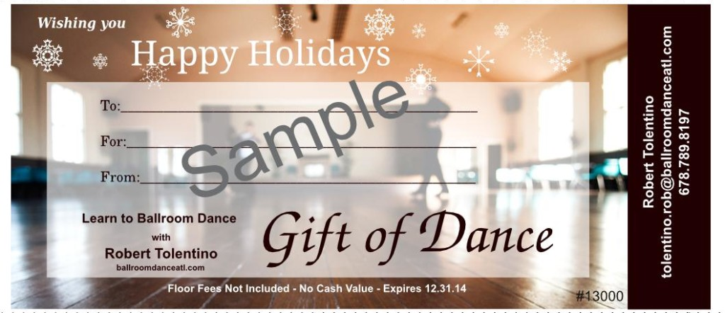 GiftCertificateHolidaysSample